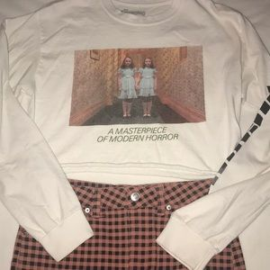 The Shining crop tee shirt